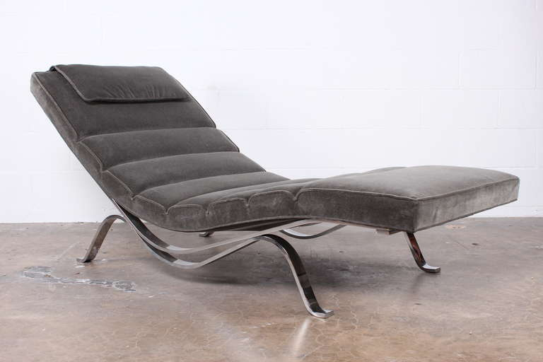 rare chaise longue designed by george nelson for herman miller at 1stdibs. Black Bedroom Furniture Sets. Home Design Ideas