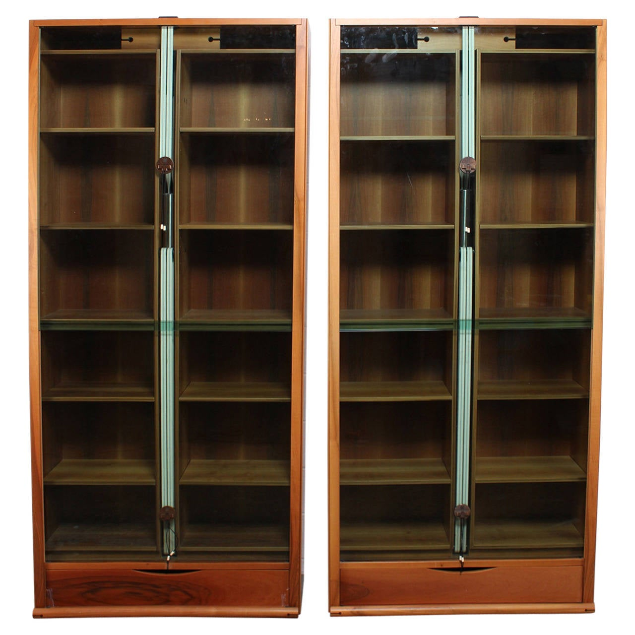 Pair of Carlo Scarpa Zibaldone Bookcases by Bernini