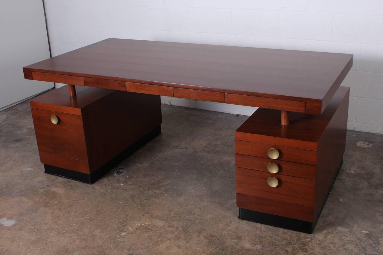 Large Desk By Gilbert Rohde For Herman Miller At 1stdibs