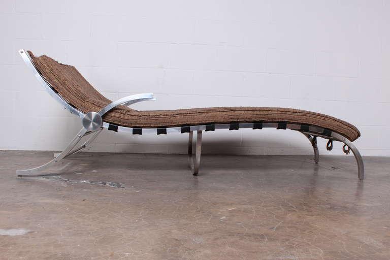 Aluminum chaise lounge at 1stdibs for Chaise longue textilene alu