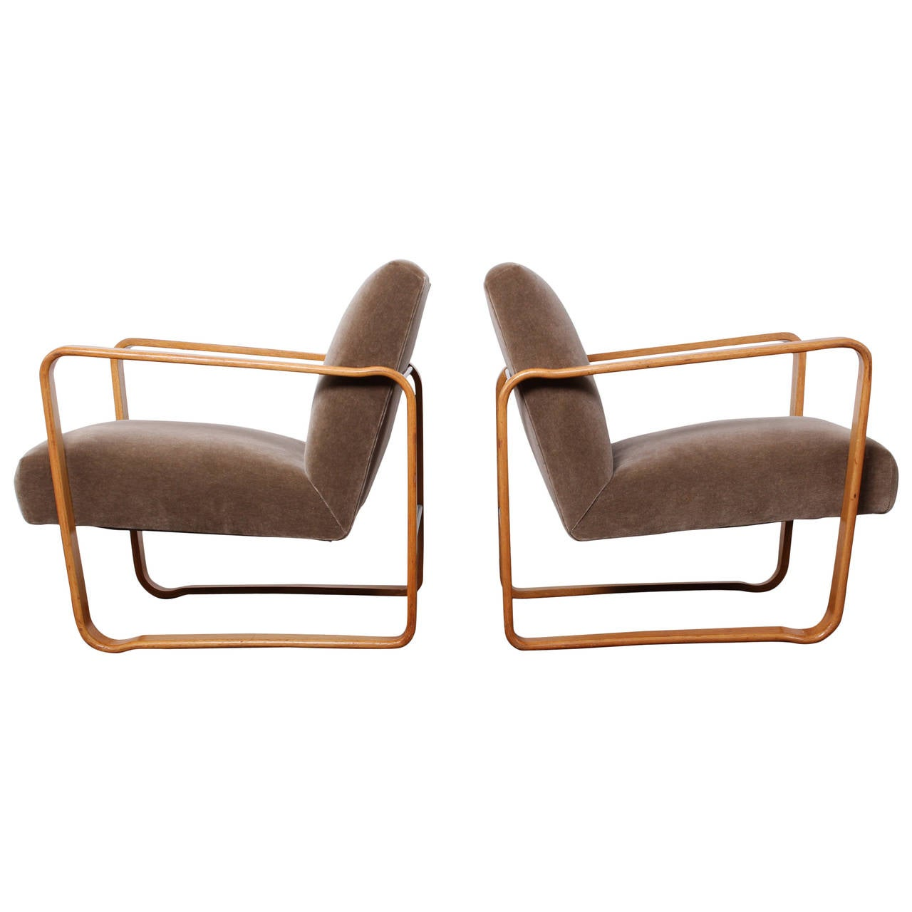 Pair of tank chairs by edward wormley for dunbar at 1stdibs - Edward wormley chairs ...