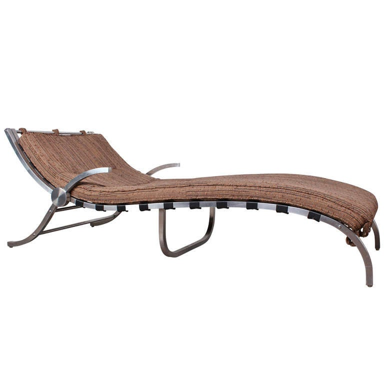 Aluminum chaise lounge at 1stdibs for Chaises longues aluminium
