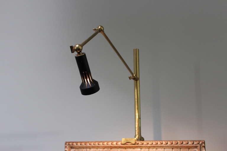 Brass Easel Lamp By Arredoluce At 1stdibs