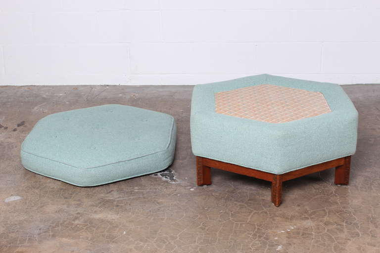 Hexagonal Ottoman By Frank Lloyd Wright For Henredon At