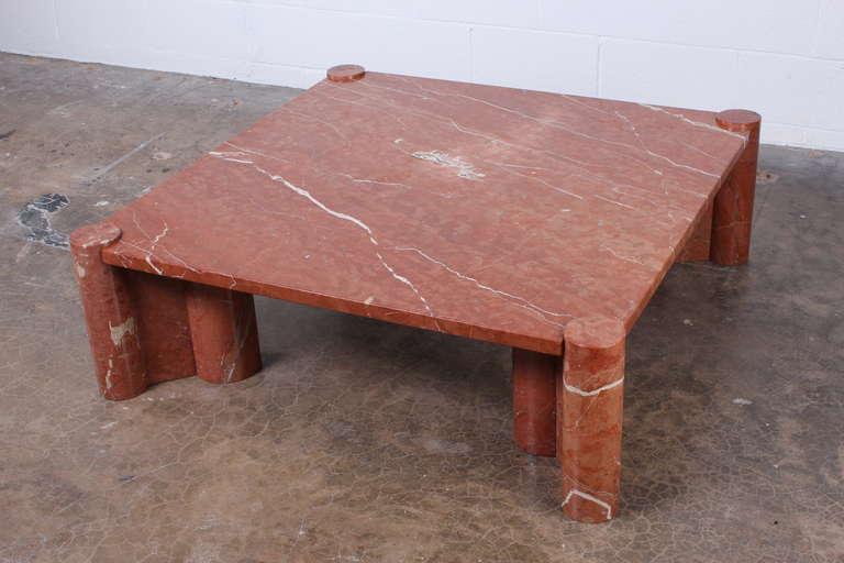 Gae Aulenti Marble Jumbo Coffee Table At 1stdibs