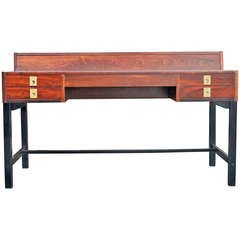 Rosewood Desk with Flip Top File Storage