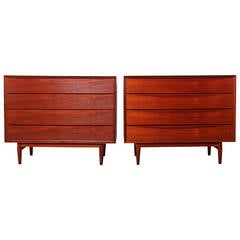 Pair of Teak Dressers by Arne Vodder for Sibast