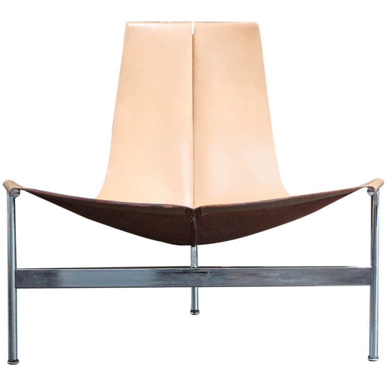Rare Low Lounge T Chair by Laverne at 1stdibs