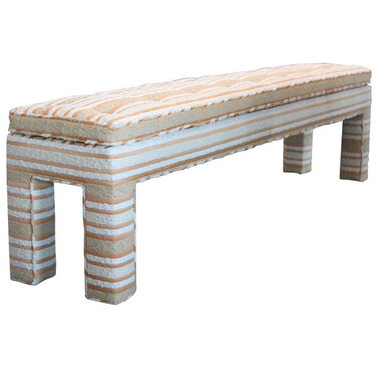 Upholstered Parsons Bench At 1stdibs