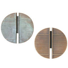 Pair of Large Bronze Door Handles