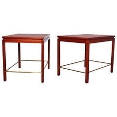Pair of Large End Tables by Edward Wormley for Dunbar