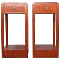 Pair of Tall Nightstands or Pedestals by Johan Tapp