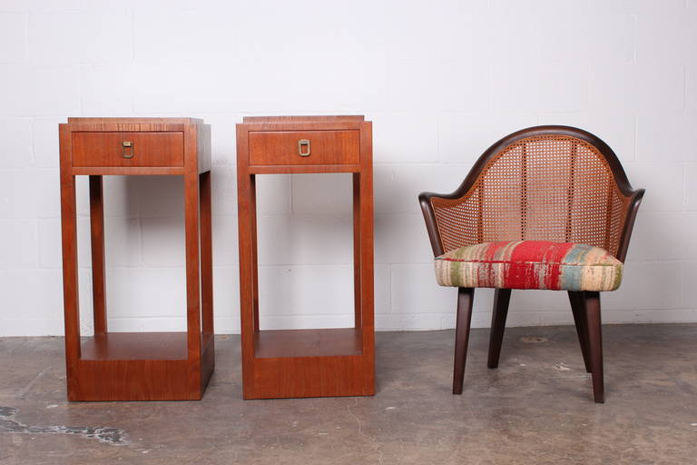 Pair of Tall Nightstands or Pedestals by Johan Tapp For Sale at 1stdibs