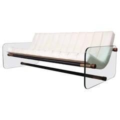Glass Sofa Attributed to Fabio Lenci