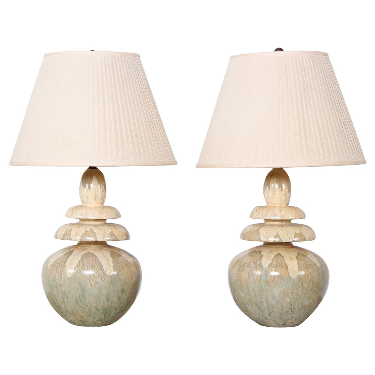 Pair of hand painted table lamps by parish hadley at 1stdibs pair of hand painted table lamps by parish hadley 1 geotapseo Gallery