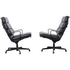 Swiveling Soft Pad Lounge Chairs by Charles Eames