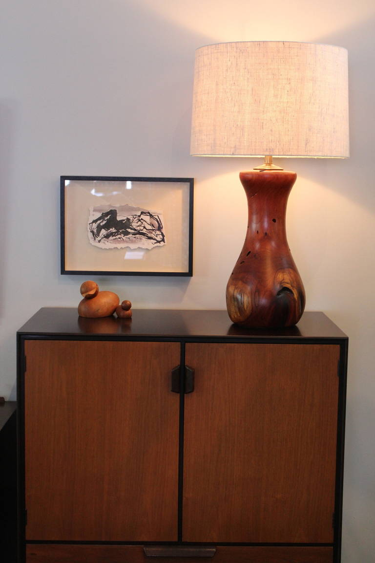 Hand Crafted Mesquite Wood Lamp At 1stdibs