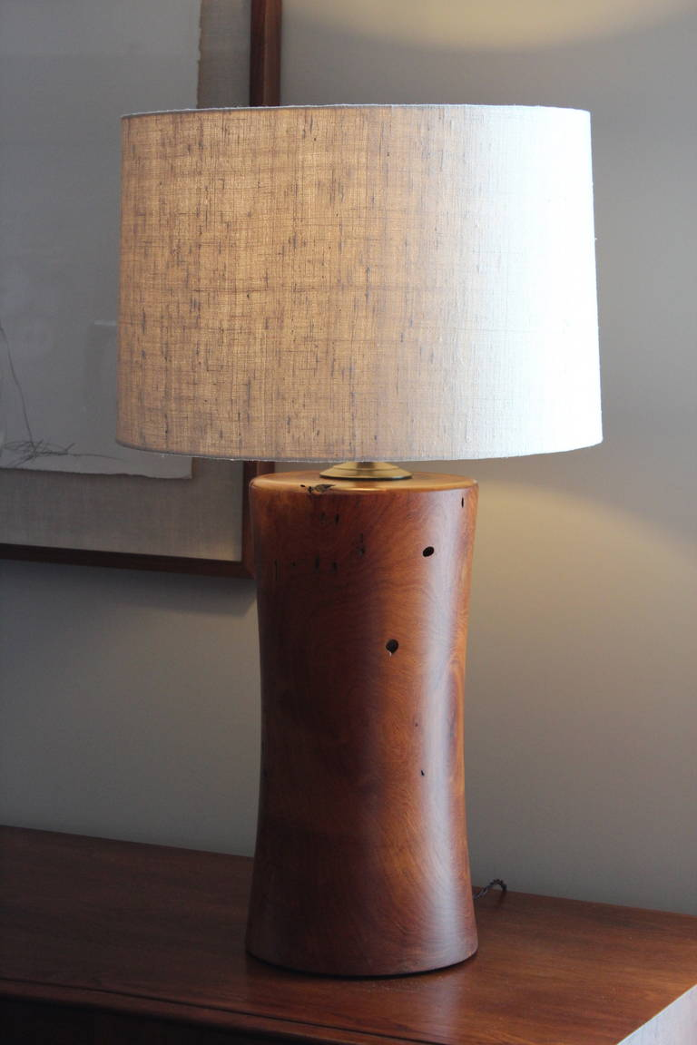 Hand crafted mesquite wood lamp at 1stdibs for Crafting wooden lamps