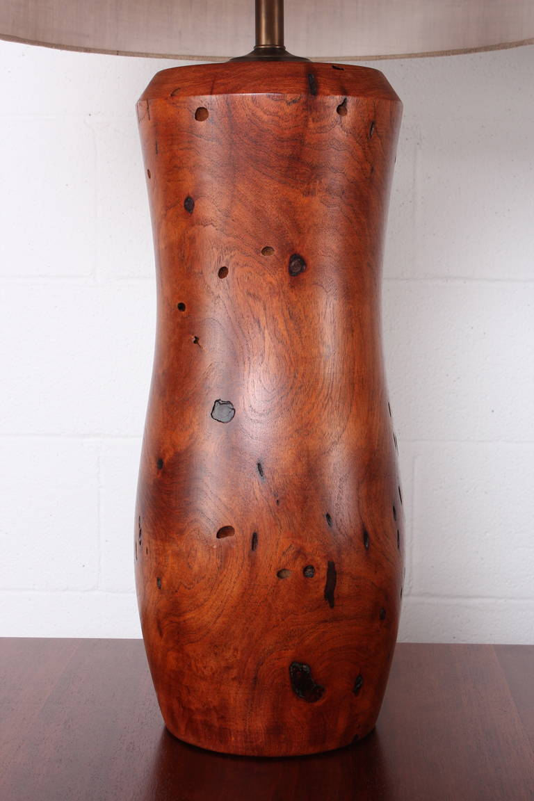 Pair of handcrafted mesquite wood lamps for sale at 1stdibs for Handcrafted or hand crafted