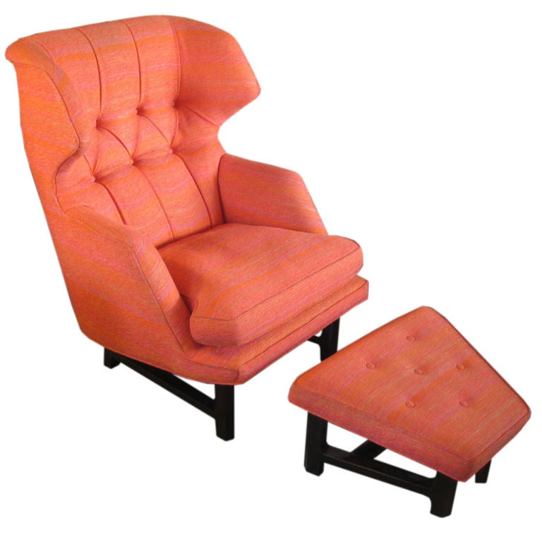 The Wingback Chair and Ottoman by Edward Wormley for