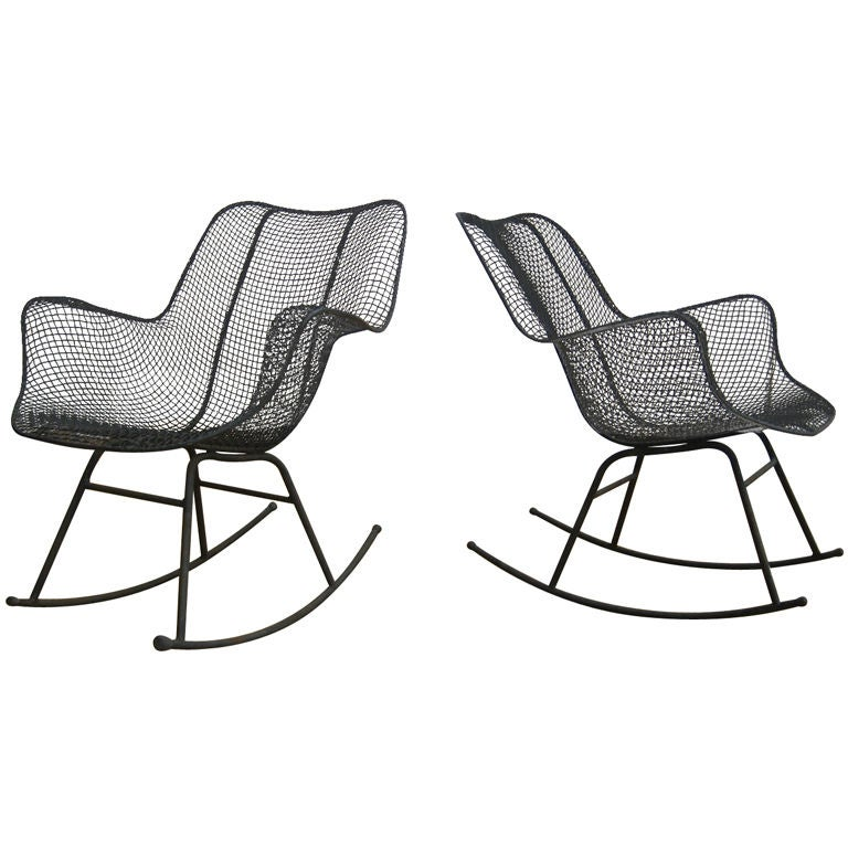 Pair Of Sculptura Rocking Chairs By Russell Woodard At 1stdibs