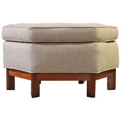 Hexagonal Ottoman by Frank Lloyd Wright for Henredon