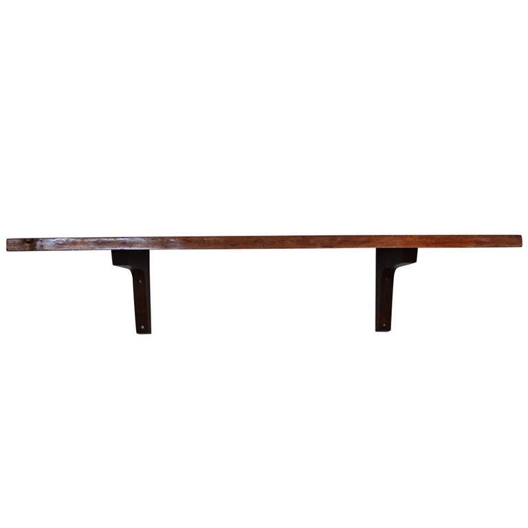 George Nakashima Slab Wall Shelf
