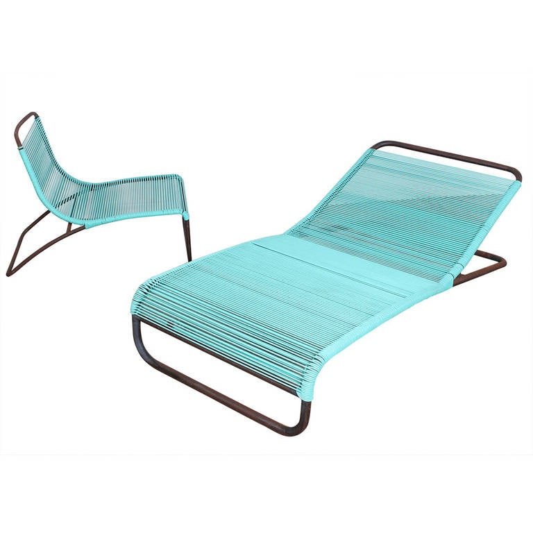 Outdoor chaise and lounge chair by van keppel green at 1stdibs for Building a chaise lounge