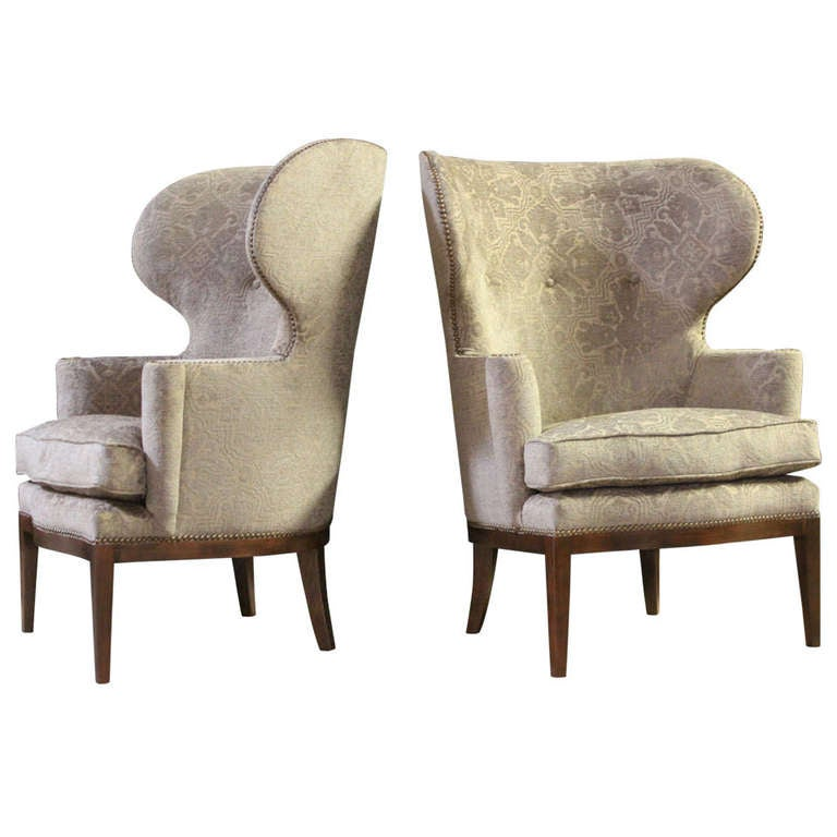 Pair Of Wing Chairs By Sputnik Modern At 1stdibs