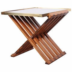 Dunbar X-Base Table with Marble Top