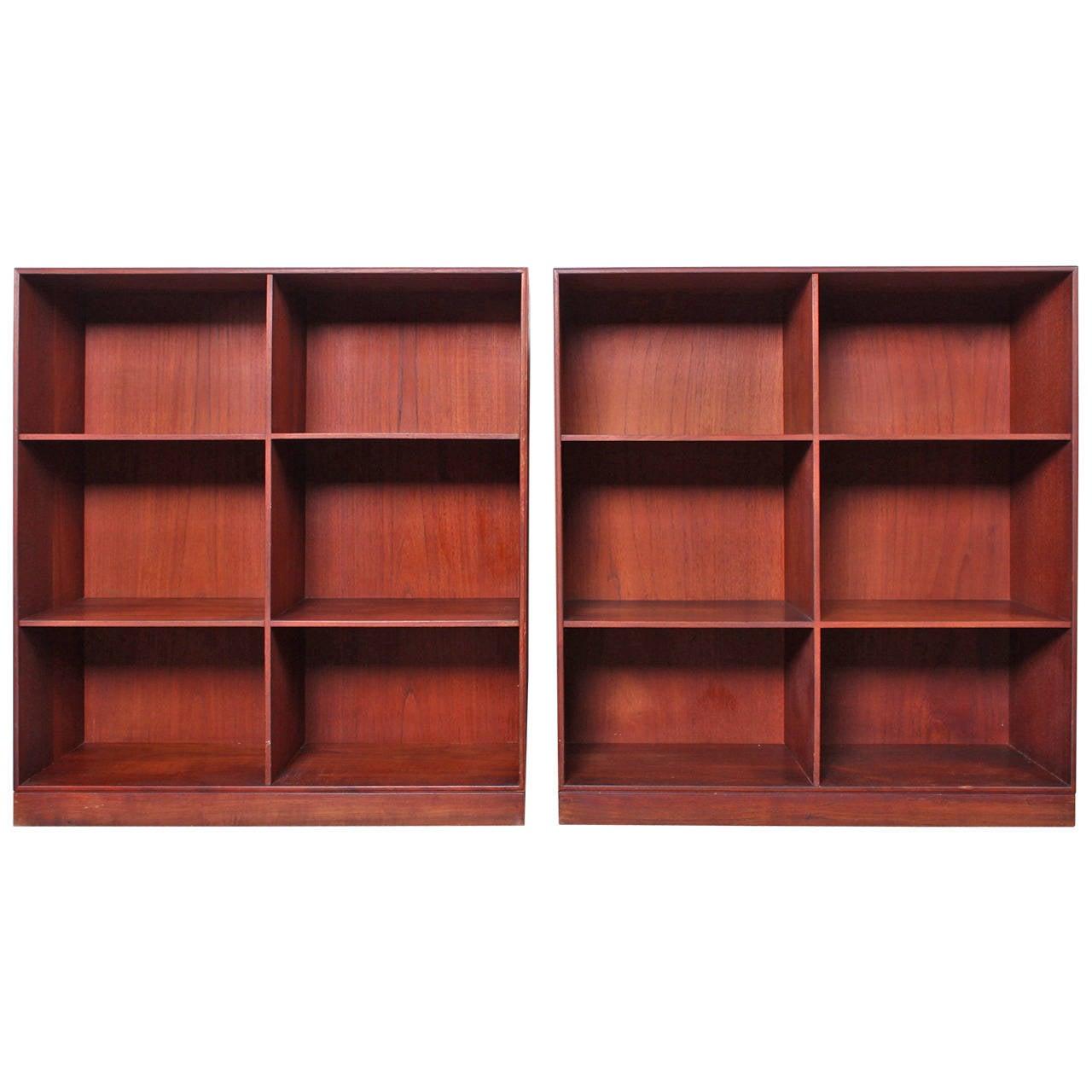 Pair of Bookcases by Mogens Koch for Rud. Rasmussens Snedkerier