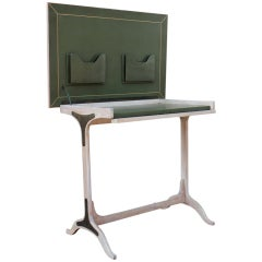 Elegant Leather Clad Writing Desk