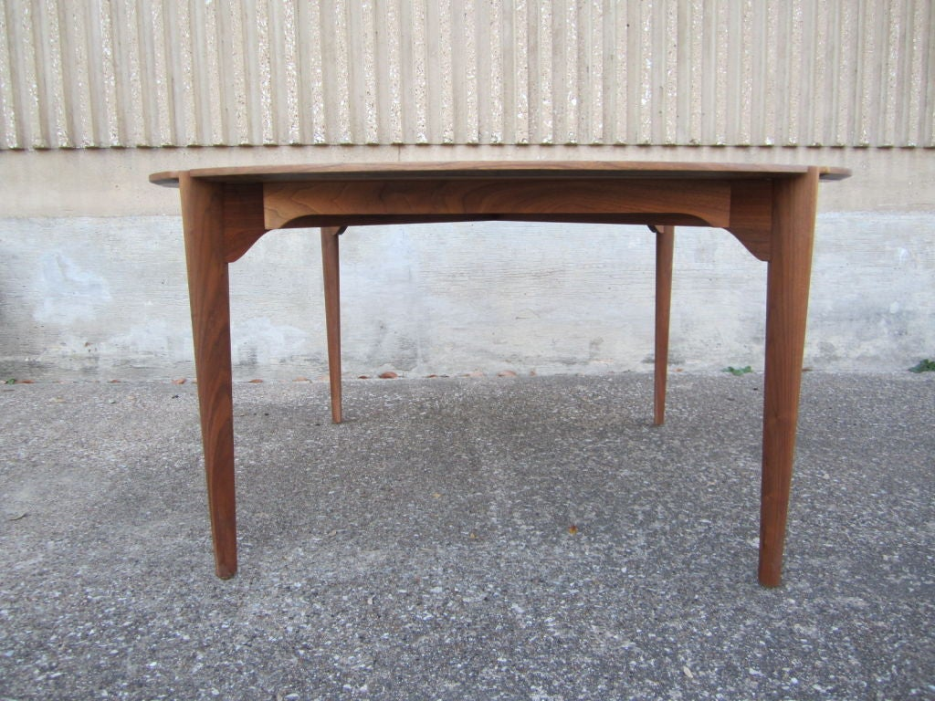 Walnut game/dining table by Brown Saltman image 2