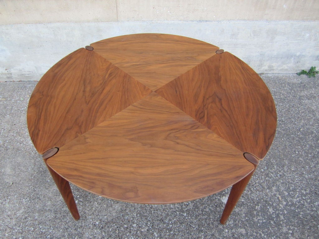 Walnut game/dining table by Brown Saltman image 3