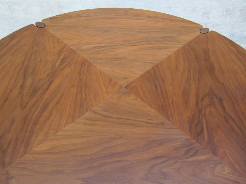 Walnut game/dining table by Brown Saltman image 5