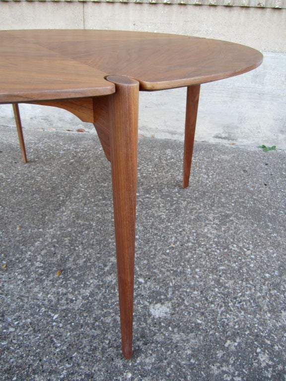 Walnut game/dining table by Brown Saltman image 6