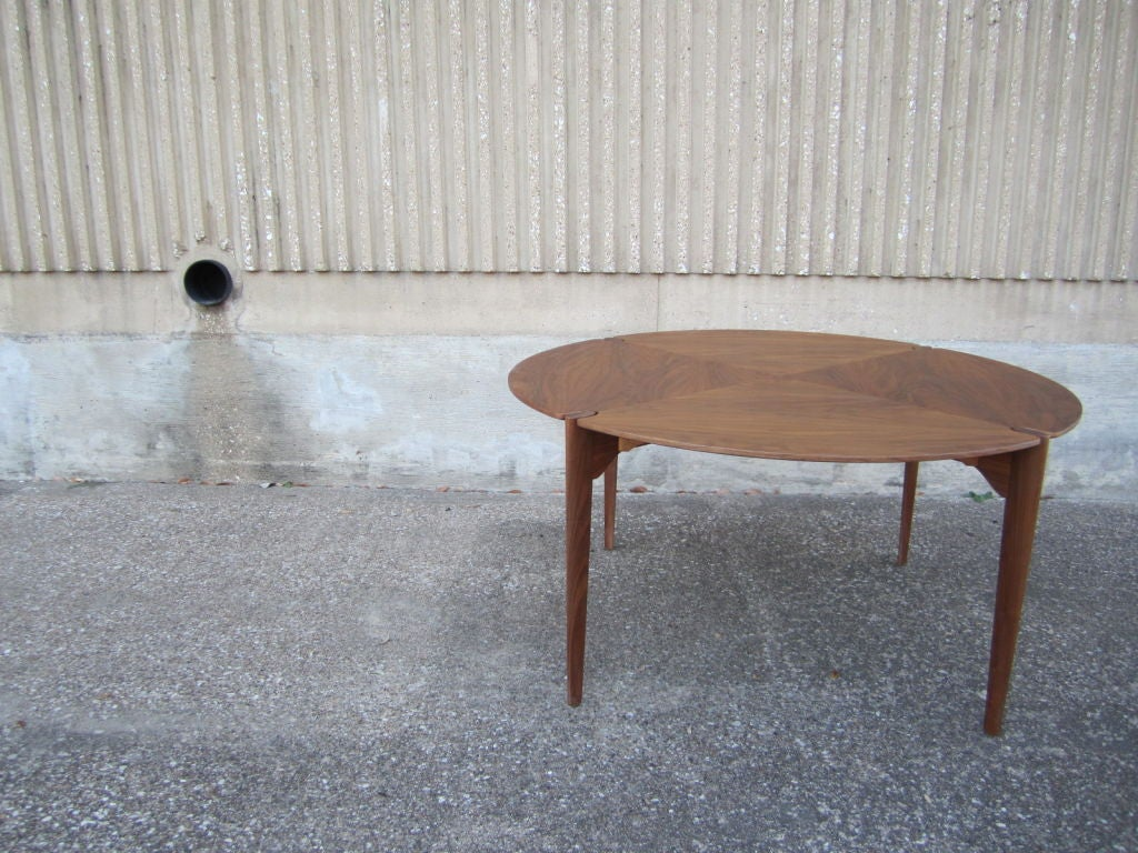 Walnut game/dining table by Brown Saltman image 7