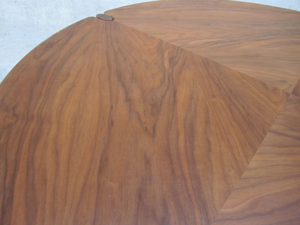 Walnut game/dining table by Brown Saltman image 8