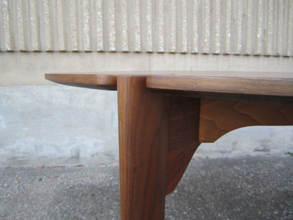 Walnut game/dining table by Brown Saltman image 9