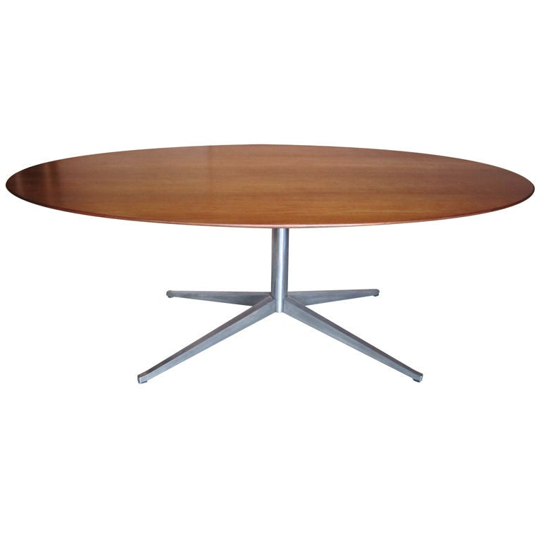 Walnut Elliptical Dining Table By Florence Knoll At 1stdibs