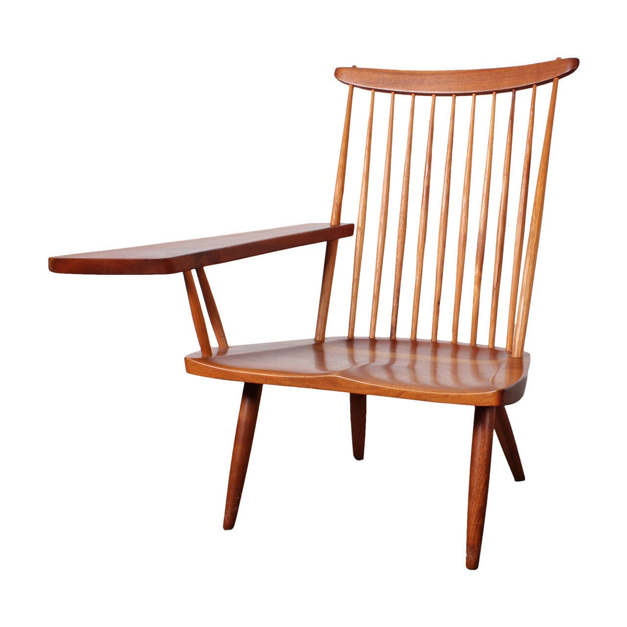 Single arm lounge chair by george nakashima at 1stdibs for Single lounge chairs for sale