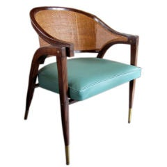 Caned back arm chair by Edward Wormley for Dunbar