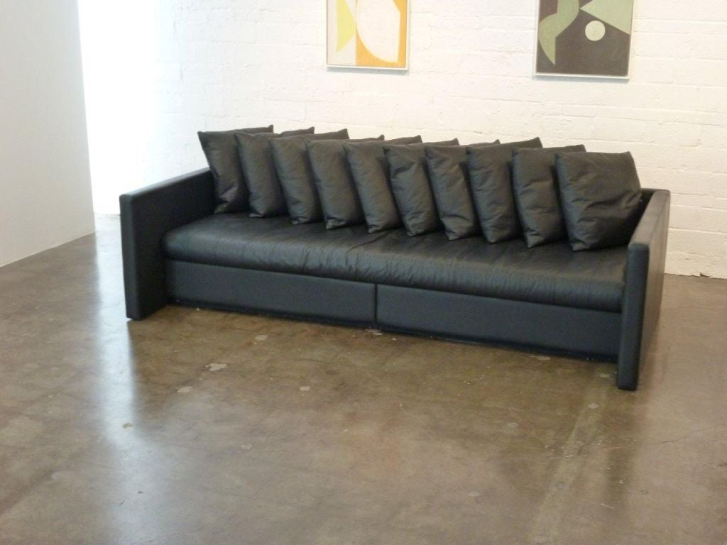 Leather Sofa Designed By Joe D Urso For Knoll At 1stdibs