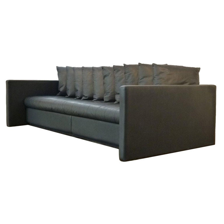 Leather Couch Cleaner Nyc: Leather Sofa Designed By Joe D'urso For Knoll At 1stdibs