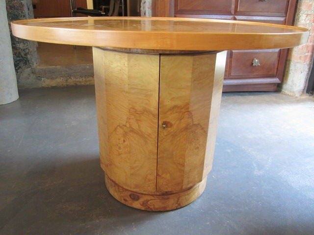 Olive-wood burl table by Edward Wormley for Dunbar For Sale 2