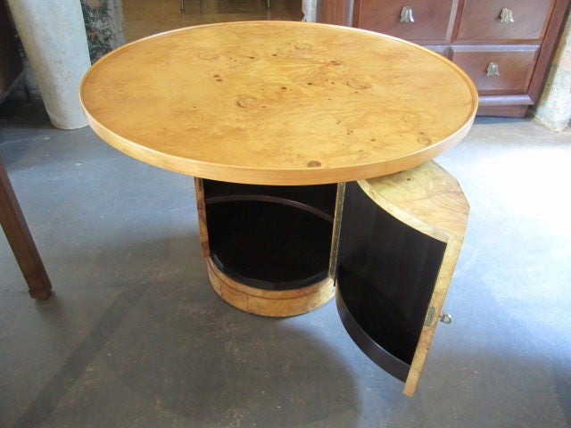 Olive-wood burl table by Edward Wormley for Dunbar For Sale 3