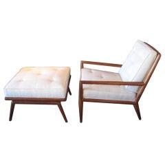 Lounge chair and ottoman by T.H. Robsjohn Gibbings