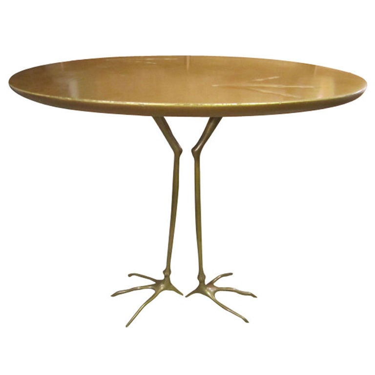 Vintage Traccia table by Meret Oppenheim 1