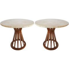 Pair of tall Sheaf of Wheat tables by Dunbar