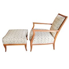Chair and ottoman designed by T.H. Robsjohn-Gibbings